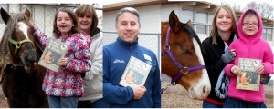 First graders, teachers, books and horses.