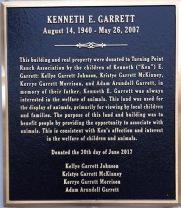 Garrett Plaque