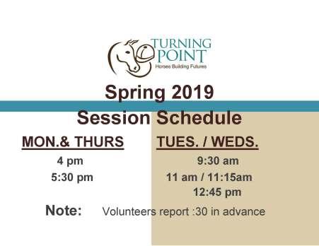 Spring 2019 schedule