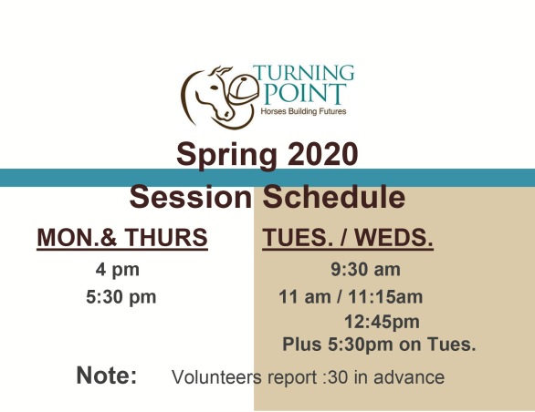 Spring 2020 Session Signs